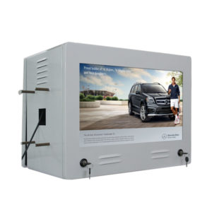 22-inch Double Screens LCD Digital Signage Used in Gas Station